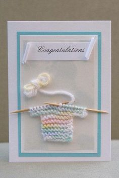 Items similar to baby boy card baby congratulations card with with handmade crochet knit little baby sweater on Etsy – Baby Shower İdeas 2020 Baby Shower Unisex, Baby Congratulations Card, Baby Shower Invitaciones, New Baby Cards, Baby Boy Cards Handmade, Paper Cards, Kids Cards, Creative Cards, Cute Cards