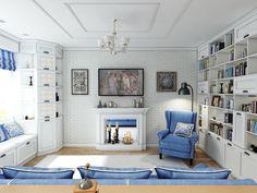Прованс в интерьере городской квартиры > http://on.fb.me/1IbAIBm  Результат работы известного украинского дизайнера
