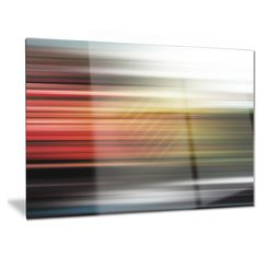 Designart 'Horizontal Lights' Contemporary Art Metal Wall Art