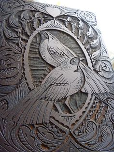 Lino Plate by Mangle Prints, via Flickr