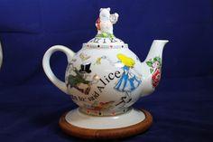 Alice in Wonderland 48 oz. Teapot #aliceinwonderland