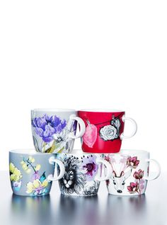 New fresh prints by Vallila Interior, Finland. China mugs.