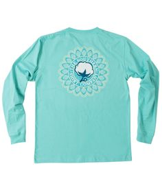 "- 100% combed ringspun cotton with our signature wash for superior comfort. - Be bright, be balanced & center your style with the NEW super soft Mandala Logo LS Tee! - Model is 5'7"" and wearing a smal"