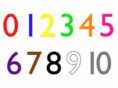 Colorful numbers clip art vector clip art online royalty free cd at httpelflearning download at httpcdbabycdelflearning learn number symbols 010 in english for efl learners and kids fandeluxe Image collections