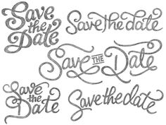 Whenever I see 'save the date' my mind reads 'Saves The Day'. & then I wanna rock out. #type, #logos