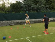 Maria's Twitter: Just another day on the green stuff! #london