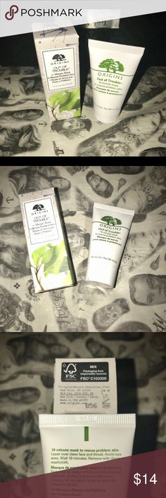 ORIGINS OUT OF TROUBLE 10 MIN MASK 🙌🏼 When skin is too-slick or more pressing problems start to pop up, Origins is here to keep skin Out Of Trouble. Super-absorbent Zinc Oxide and Sulfur plus calming Camphor rapidly soak up oily-shine, slough off dead cells and sweep away debris. Together they steer skin clear of slippery situations, refine rough texture and pull the plug on troublemakers to help prevent potential outbursts. ✅FAST SHIPPING✅TRAVEL SZ 1 oz ✅Perfect size to try! 💋BUNDLING…