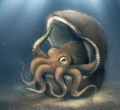 Coconut Octopus   Illustration Art   The Design Inspiration