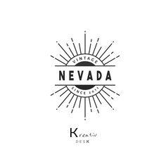 Vintage Logo. Retro Logo. Rays Logo. Handmade Logo. Sun Logo. Cute Logo Design. Business Logo. Premade Logo. Customizable Logo. PSD Template by KreativDesk on Etsy