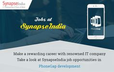 Apply for SynapseIndia jobs in PhoneGap development and get opportunity to make a career with renowned IT outsourcing company in Noida, India. You can apply for SynapseIndia Jobs at: https://www.synapseindia.jobs/ Get more info at: http://synapseindia-jobs.blogspot.in/2016/11/synapseindia-jobs-phonegap-development.html