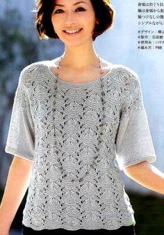 blusa de calado