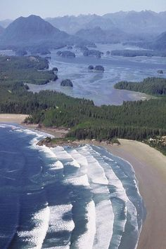 Tofino, Aerial View of Cox Bay - Long Beach Lodge Resort - Vancouver Island, British Columbia, Canada