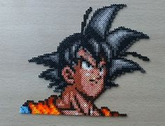 Dragon Ball Z Goku Perler Bead Sprite by PixelBeadPictures