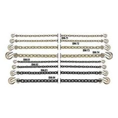 Chain, 6600Lb, L20Ft by B/A Products Co.. $179.29. Chain, Grade 70 Steel, Working Load Limit 6600 Lb, Trade Size 3/8 In, Length 20 Ft, Includes Clevis Grab Hooks on Both Ends