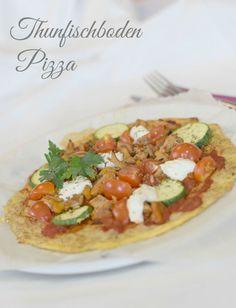 Low Carb Pizza mit Thunfischboden und Gemüsebelag . Figurfreundlich, gesund, lecker! Perfekte Kombination! :))
