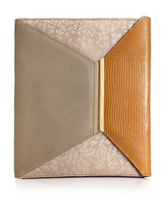 Vince Camuto Leather IPad cover- looks like a clutch