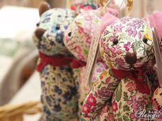 bears w/ Liberty print fabric!