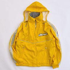 Rare Vintage Ellesse Slovenija Team Alpine 1997 Ski Jacket, Big Logo, Yellow Jacket / 80s / 90s Fashion Outfits // Retro Streetwear // Windbreaker // Oldschool // men // women // unisex // Rare Clothing Clothes Items // style // etsy