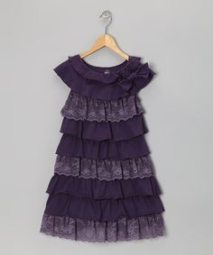 Take a look at this Purple Ruffle Tiered Dress by Limeapple on #zulily today!
