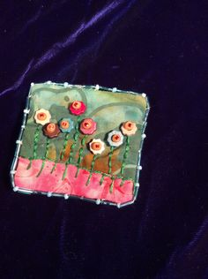My flower garden pin brooch by EuthymicThreads on Etsy