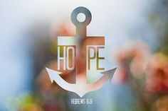 """""""We have this hope as an anchor for the soul, firm and secure."""" Awesome tattoo design"""