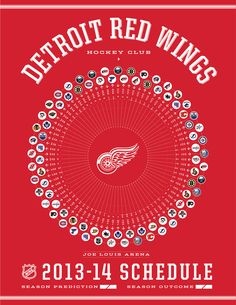 Detroit Red Wings 2013-14 Schedule