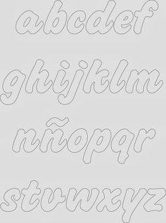 Taller Lash: abedecedarios                                                                                                                                                                                 Más Alphabet Templates, Alphabet Symbols, Alphabet And Numbers, Alphabet Stencils, Hand Lettering Practice, Hand Lettering Alphabet, Lettering Styles, Lettering Design, Cursive Bubble Letters