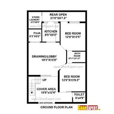 house plan for 25 feet by 52 feet plot plot size 144