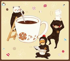 Shachi Penguin and Bepo making coffe for your cap??
