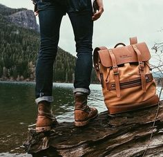 Leather bag & boots !