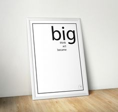 PLakat 'BIG' od CIDESIGN