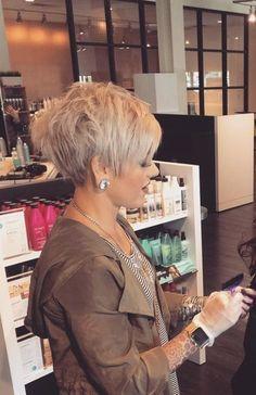 Pixie hair cut [