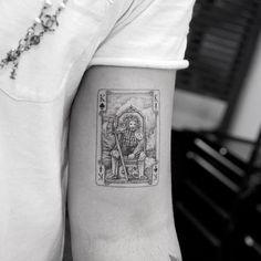 King Card Tattoo by Mr. K