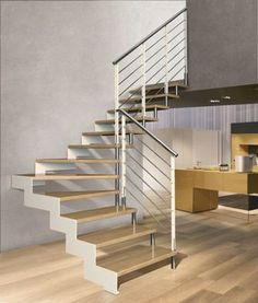 escalier soft wood quart tournant en bois massif 13 marches combles pinterest bois et ps. Black Bedroom Furniture Sets. Home Design Ideas