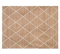 Jute Lattice Rug - Flax/Ivory #potterybarn  option also with color variation to compliment fireplace wall, $579 for 9x12