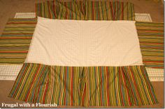 DIY crib skirt.. If you make it w/ out center material and use ribbons instead, and leave the 3 rectangles of material separate; then tie each to mattress support it becomes adjustable. When you move mattress down when baby gets bigger you move crib skirt further back/ up on mattress support.