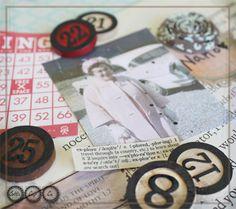 Bingo chips for scrapbooking! so fun!