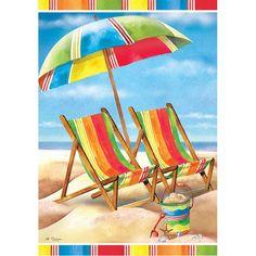 Beach Chairs Garden Flag