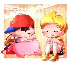 Ness, Lucas and Kirby by Wang Zi