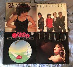 PRETENDERS BERLIN PAT BENATAR HEART 4 VINYL LOT FREE SHIPPING LP CLASSIC ROCK