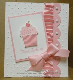 Cupcake! using the Create a Cupcake stamp set and coordinating punch - both from Stampin Up. by jolene
