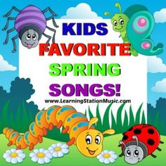 KIDS FAVORITE SPRING SONGS with Lyrics! | The Learning Station