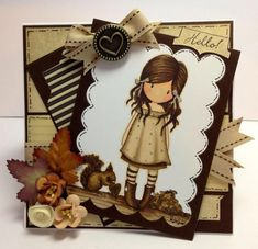 Gorjuss. Autumn. Handmade Card