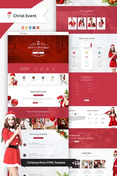 Christ Event - Christmas Party HTML Landing Page Template #LandingPage #Christmas #Party #Christ