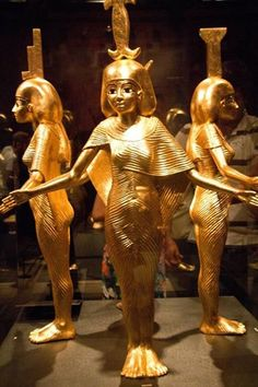 The four protective goddesses of tomb Tutankhamun...Isis ..Neftis..Neit and Selkis...