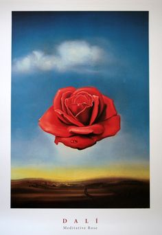 Salvador Dali~Meditative Rose
