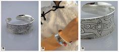 Bracelet en Argent tibétain. Cadeaux d'Asie