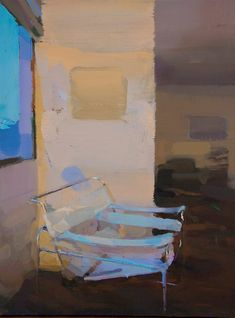 Carlos San Millan - Breuer Chair, 60 x 45 cm Oil on wood.
