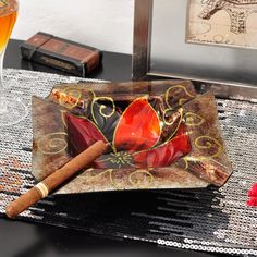 Luxury Glass Cigar Ashtray