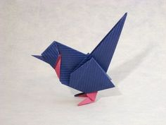 Origami Wren by Roman Diaz Folded from a square of duo Kraft origami paper by Gilad Aharoni on www.giladorigami.com